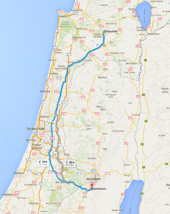 11 - Daily Dependence - Map of Nazareth to Bethleham