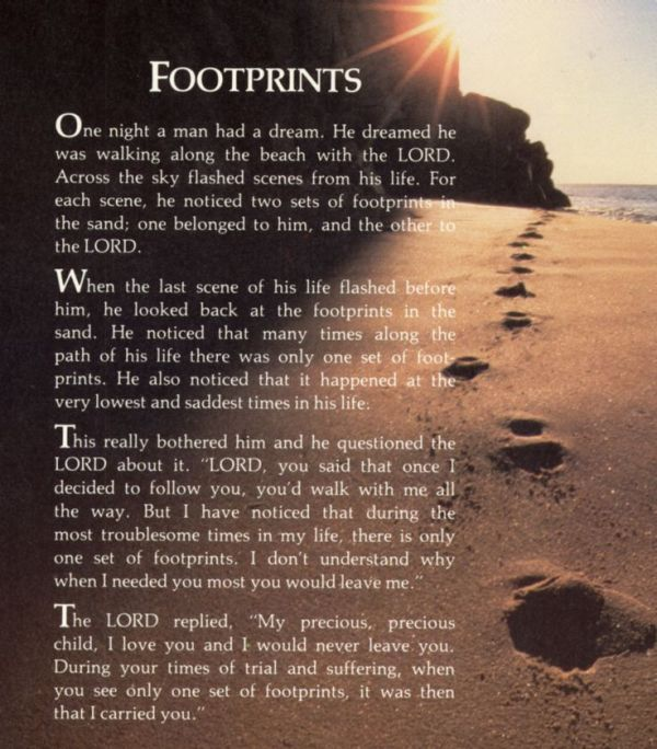 97 - Daily Dependence - Footprints Poem